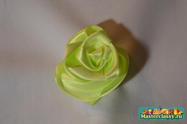 Видео розы из лент  мастер класс для начинающих 108