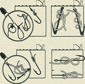 как правильно привязать кольца на удочку