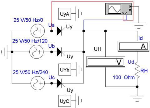В) Управляемый 3-х фазный