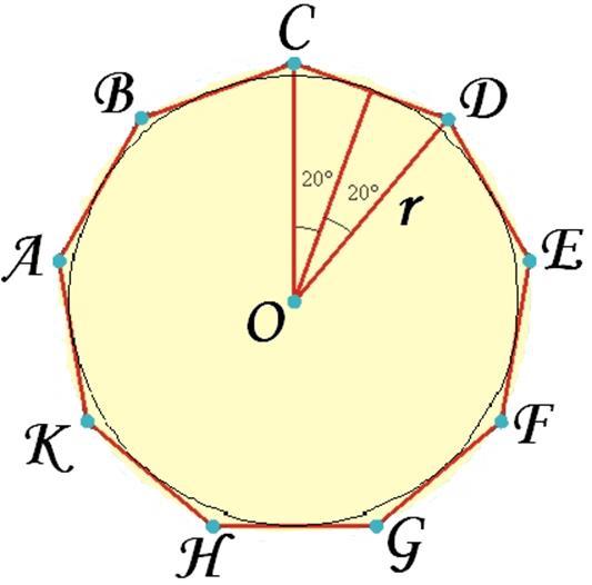 Как сделать девятиугольник