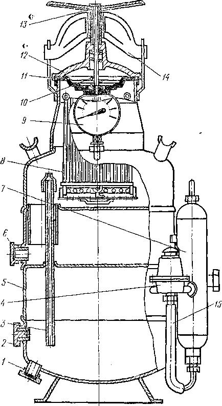 1,6 – штуцеры для слива воды;