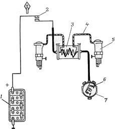 Схема системы зажигания урал