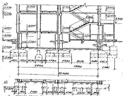 Схема опирания этажного блока