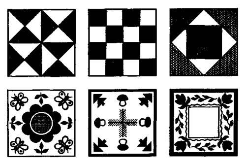 Схема построения узоров в