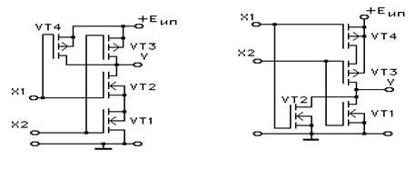 Элемент 2 или не схема кмоп 4