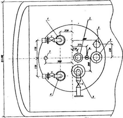 показана схема врезок в
