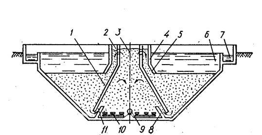 Схема аэротенка-осветлителя
