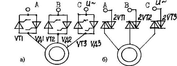 Рис. 4.4- Схемы тиристорных