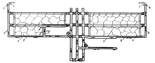 Схема с отводом метана через
