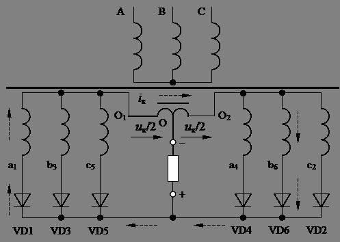 Схема выпрямителя «Две