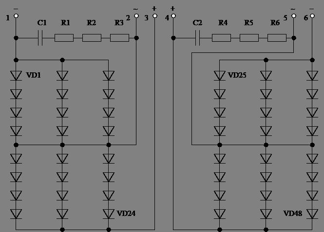 электрическая схема одного