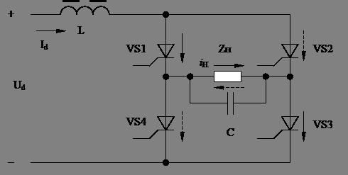 Автономный инвертор напряжения схема