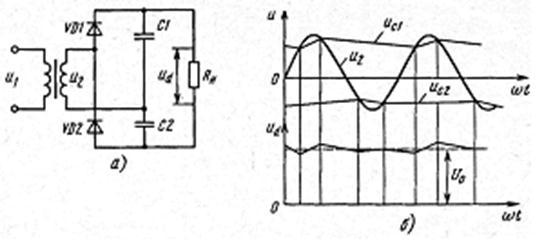 Схема выпрямителя с удвоением