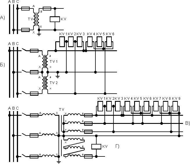 Схемы соединения измерительным
