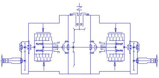 Рисунок 35 Схема заднего моста