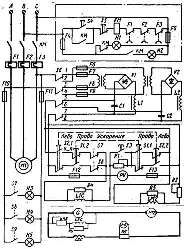 Схема простого управления РЭП