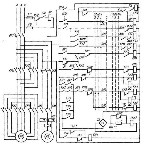 Схема управления механизмом