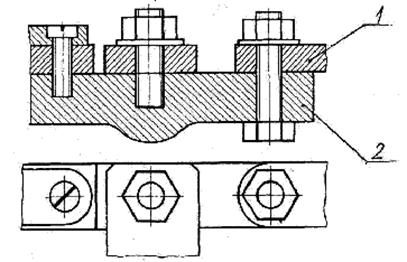 упрощенное изображение болтового соединения