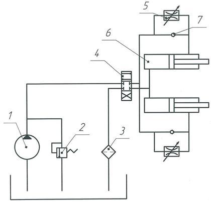 2 - гидравлический рулевой