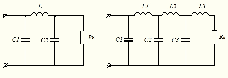 а) П – образный фильтр б)