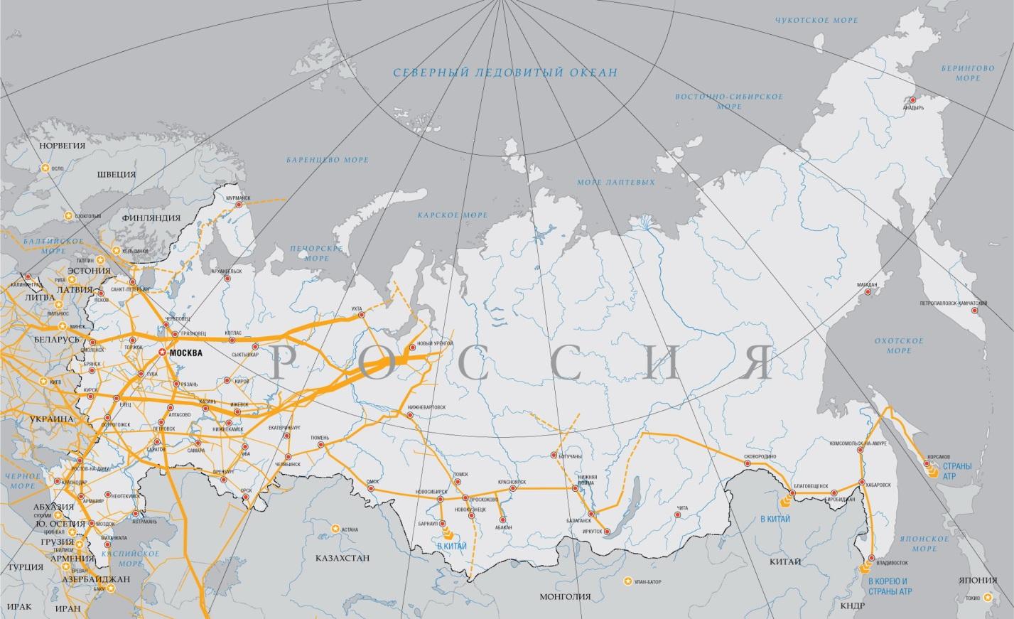 схема нефтепровода в ленинградской области