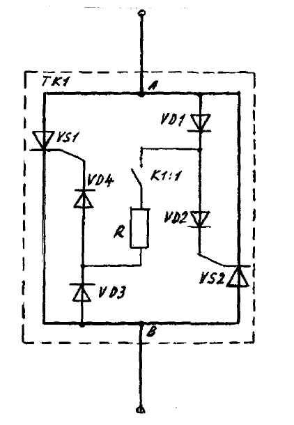 Схема тиристорного коммутатора