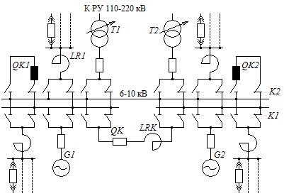Однолинейная схема кэс