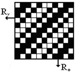 Залежно від співвідношення чисел дробового позначення складної саржі на  лицьовій стороні тканини може переважати основний або вуточний застил. 6106f6443f058