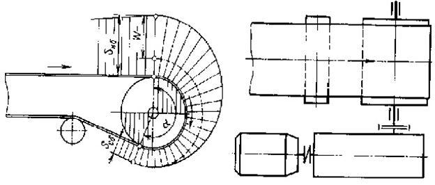 Схема однобарабанного привода