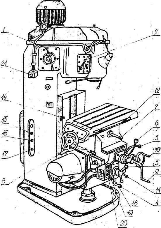 Общий вид станка модели 6Н11.