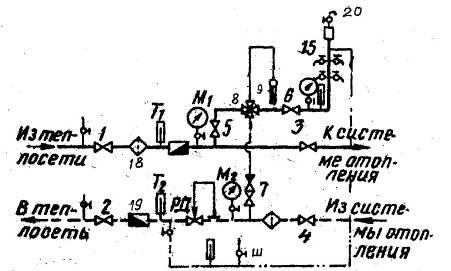 Схема узла присоединения