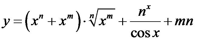 Контрольная работа № Предел и производная функции одной  Найти производную функции