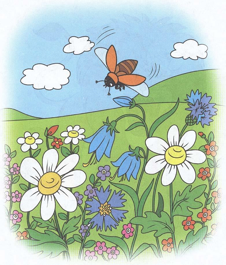 картинка жук летит к цветку сокращается при вдыхании