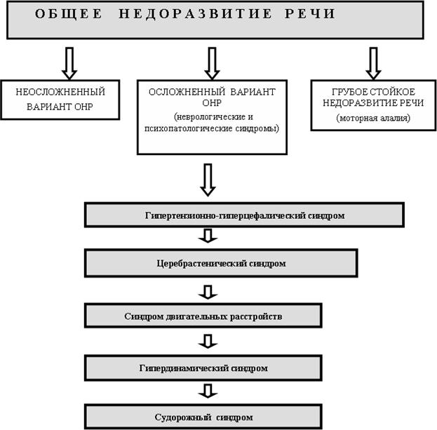 Схема обследования ребенка с онр