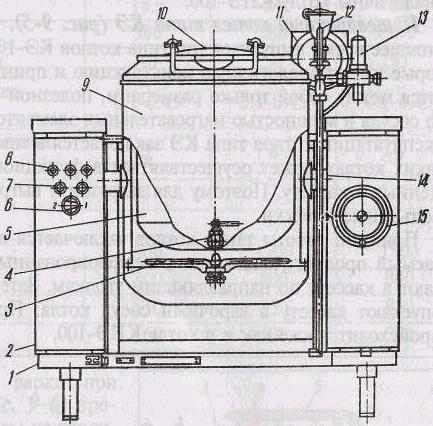 Схема 2.3. Котел КПЭСМ-60М