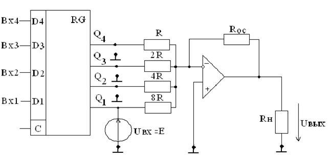 Схема цифро-аналогового