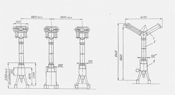 Схема строповки элегазового выключателя