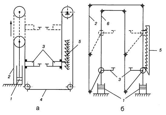 схемы привода кареток