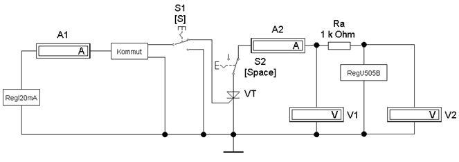 Рис. 5.4 Схема измерения ВАХ и