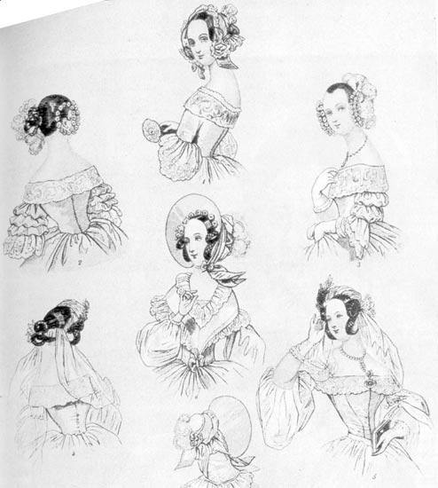 Рисунки причесок романтического стиля