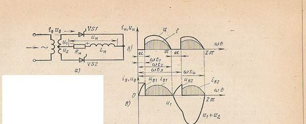 Схема включения тиристор в