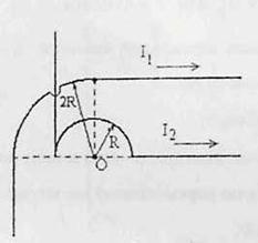 Контрольная работа Постоянный ток Магнитное поле Студопедия 4 В плоскости расположены два бесконечных контура из тонкого провода Контурные токи i1 40 А i2 25 А r 20 см Определить магнитную индукцию В