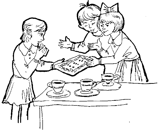 Раскраска сюжетных картинок