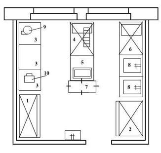 Планировка холодного цеха столовой