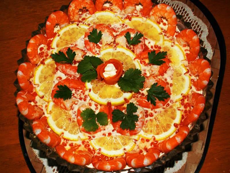 Украшение праздничного салата фото и пошаговый рецепт