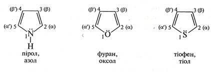 Пятичленнi гетероциклiчнi сполуки з з одним гетероатомом