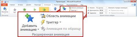 Как сделать в powerpoint анимацию текста в