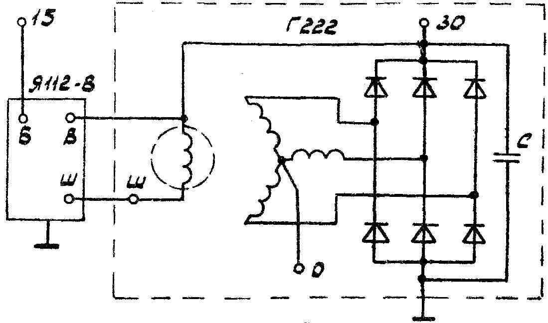Схему испытания генератора