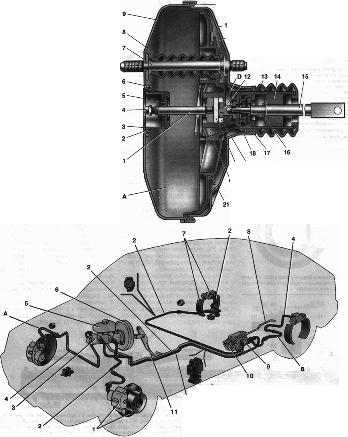 Тормозная система уаз 3303 головастик без вакуумного усилителя схема и фото