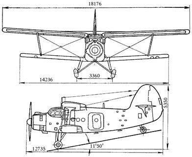 Схема самолета Ан-2 на